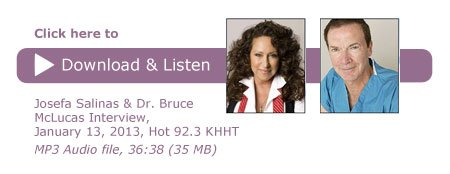 Josefa Salinas and Dr. Bruce McLucas on Fibroid Treatment - Click to Download