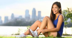 Girl Tying Her Shoes -Exercise- Fibroids