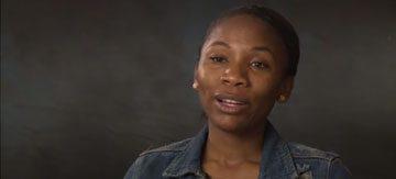 video-woman talking